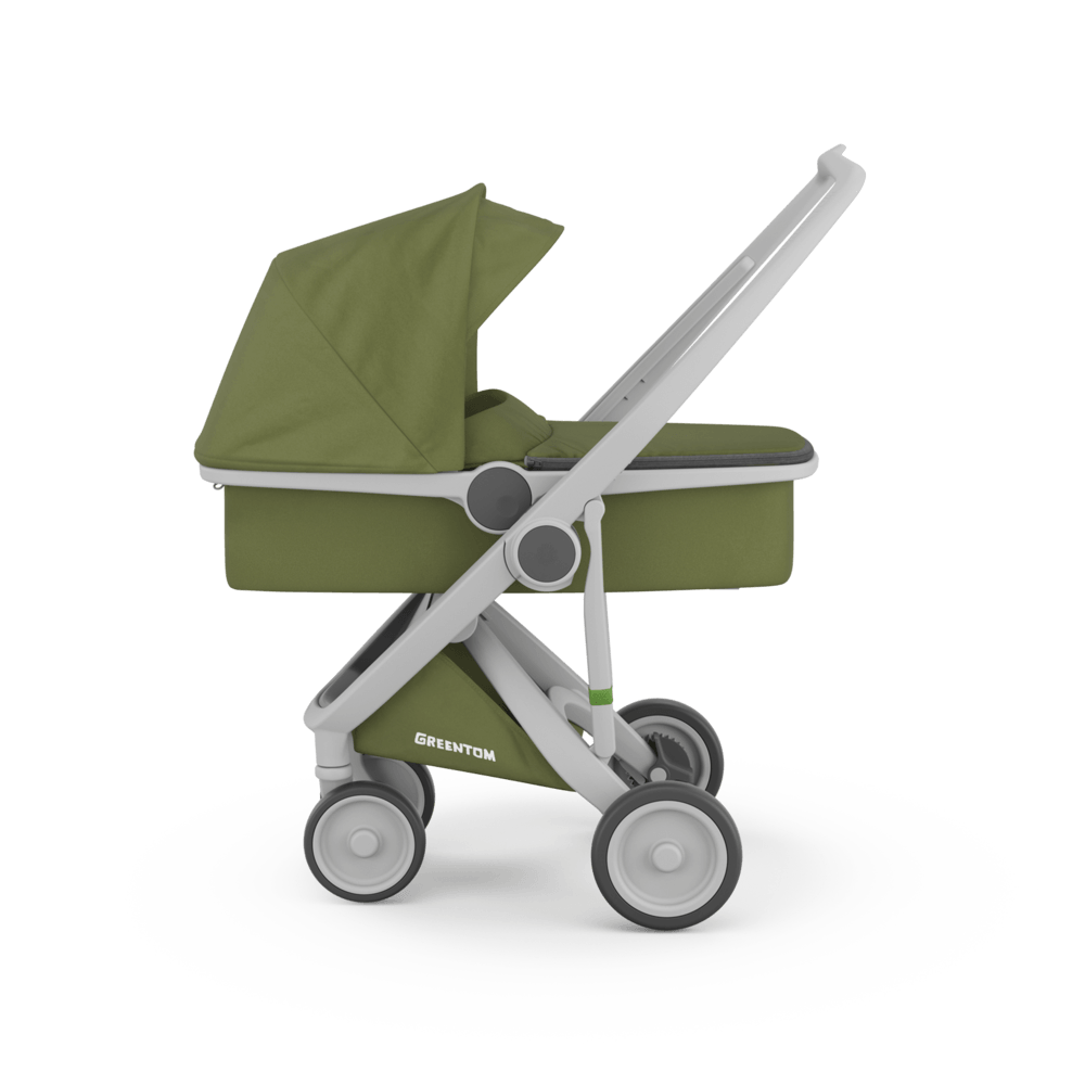 Carucior 2 in 1 100 Ecologic, Grey Olive imagine