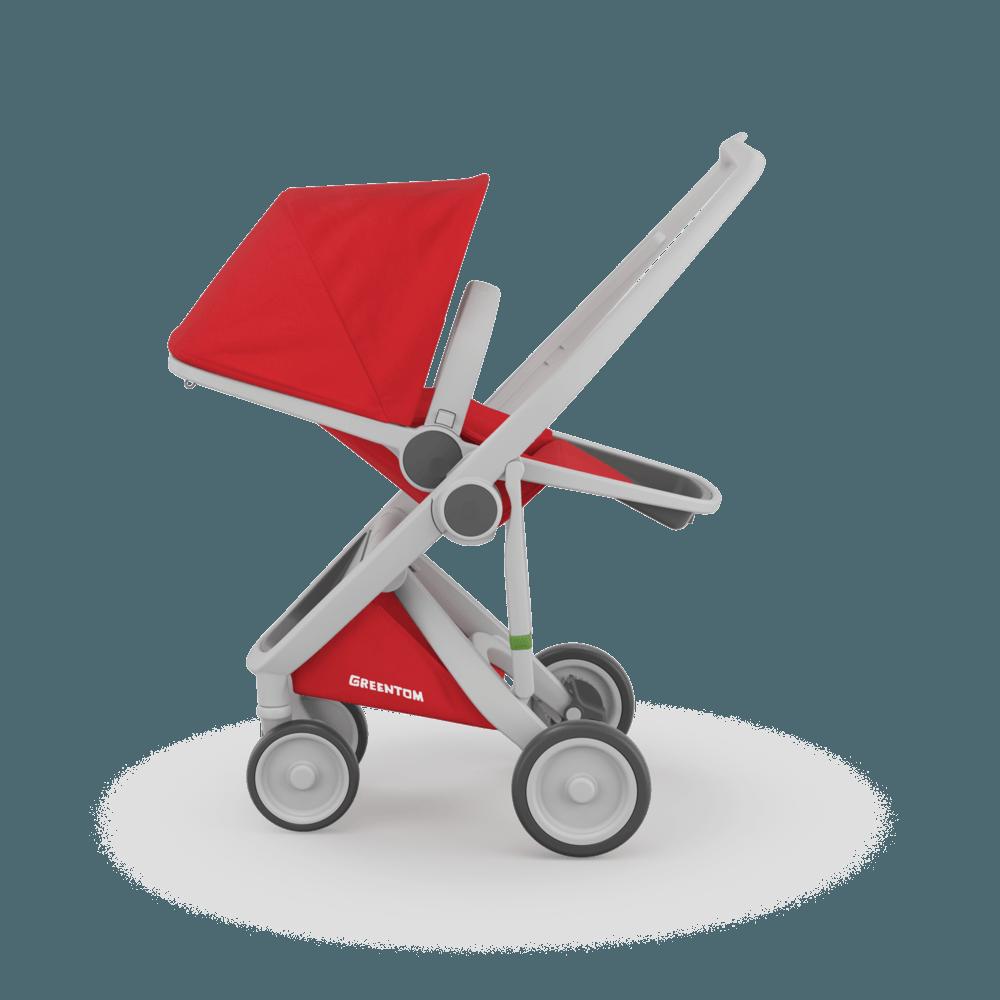 Carucior Reversible 100 Ecologic Grey Red imagine