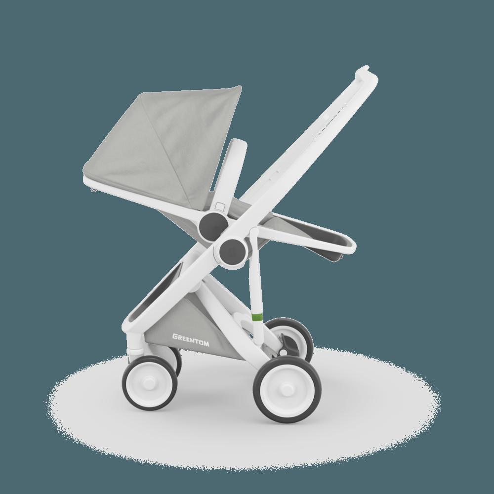 Carucior Reversible 100 Ecologic White Grey