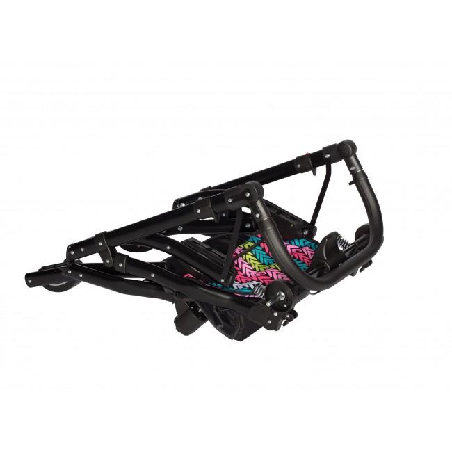 Carucior gemeni Tandem Pj Stroller Lux 3 in 1 Red - 1