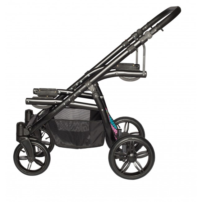 Carucior gemeni Tandem Pj Stroller Lux 3 in 1 Red - 2