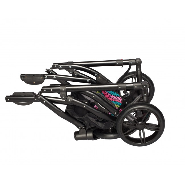 Carucior gemeni Tandem Pj Stroller Lux 3 in 1 Red - 4