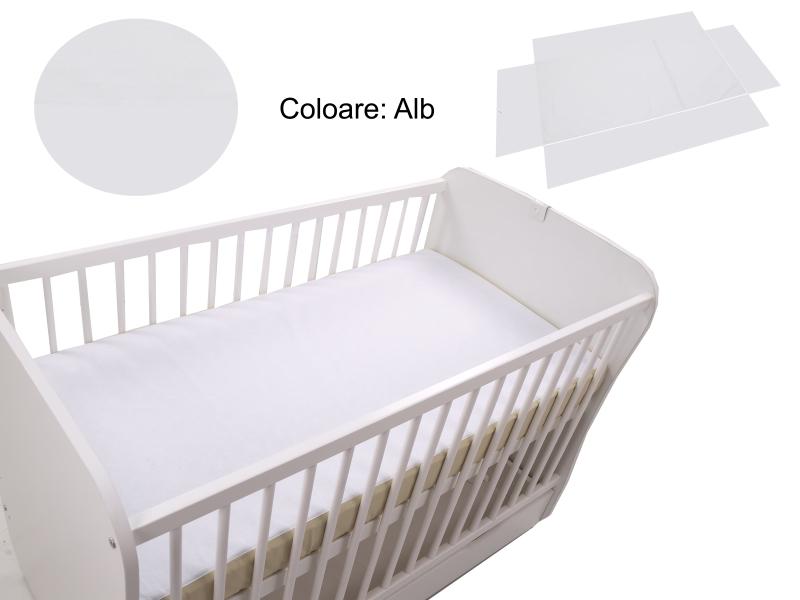 Cearceaf Klups fara elastic Alb 120×60 din categoria Camera copilului de la Klups
