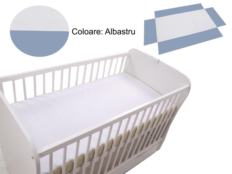 Cearceaf Klups fara elastic Blue 120×60 din categoria Camera copilului de la Klups