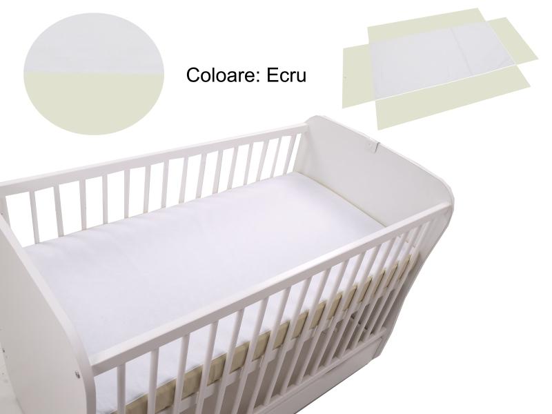 Cearceaf Klups fara elastic Ecru 120×60 din categoria Camera copilului de la Klups
