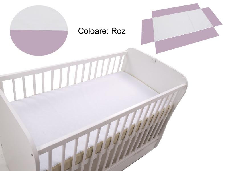 Cearceaf Klups fara elastic Roz 120×60 din categoria Camera copilului de la Klups