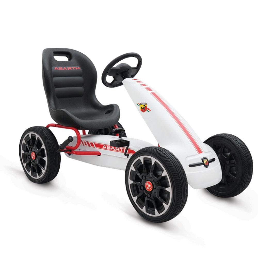 Kart cu pedale Abarth 500 Assetto White imagine