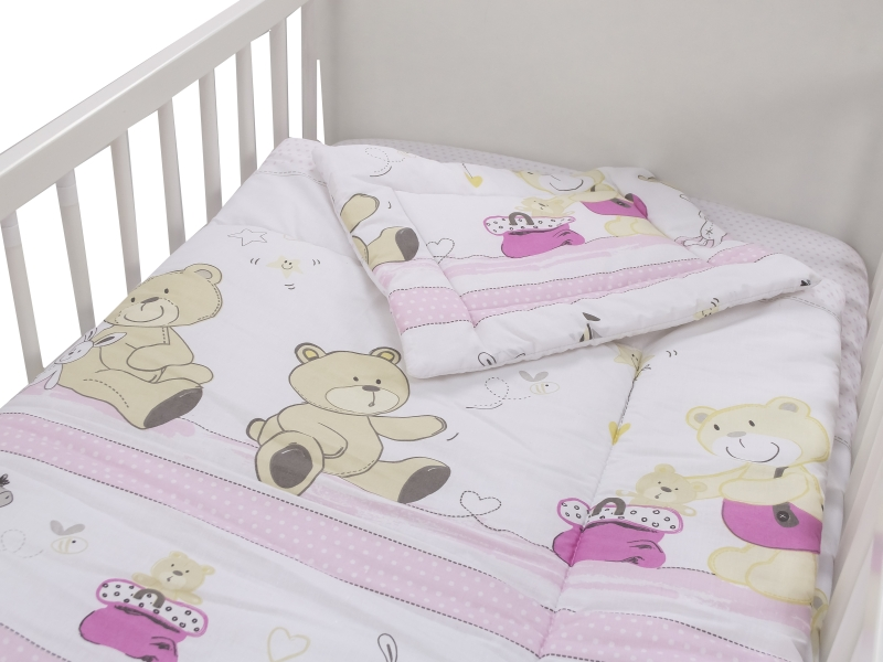 Lenjerie Teddy Play Pink 3 piese 120x60