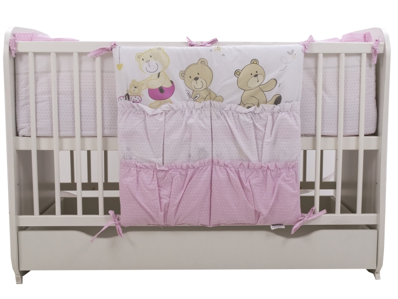 Lenjerie Teddy Play Pink M1 7 piese 120x60 cm