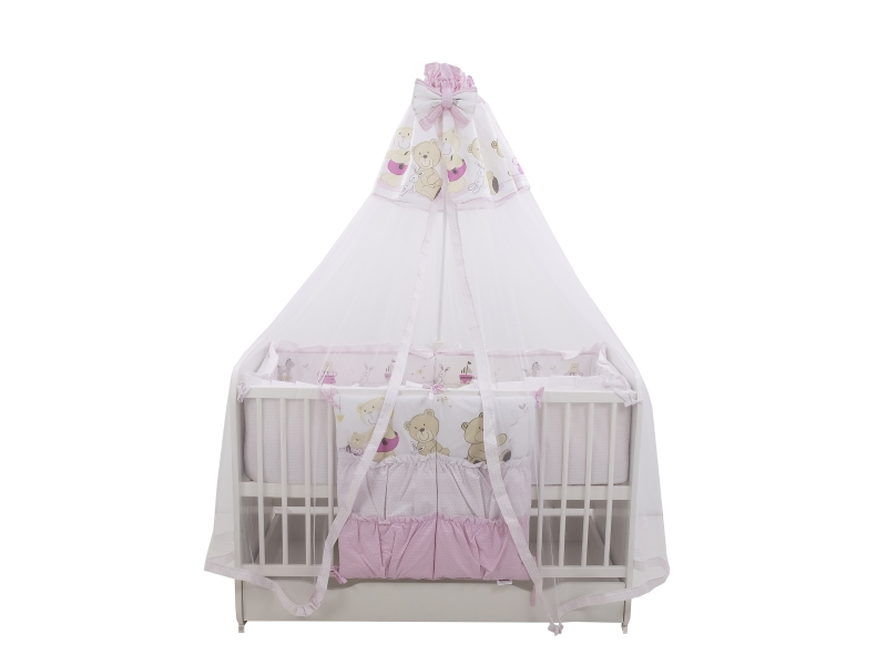 Lenjerie Teddy Play Pink M2 7 piese 140x70 cm