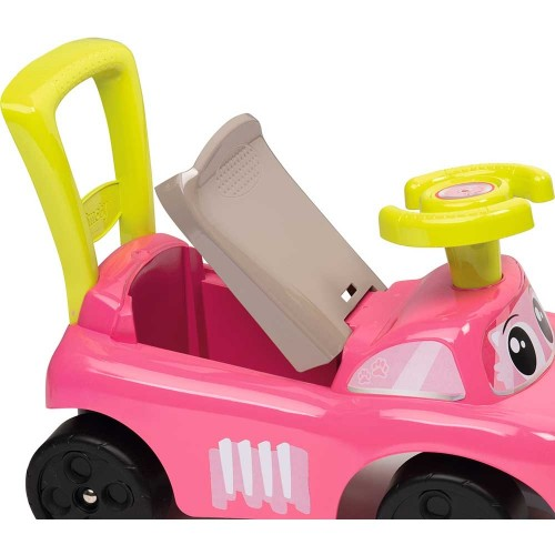 Masinuta de impins Auto Rocking 4 in 1 roz Smoby