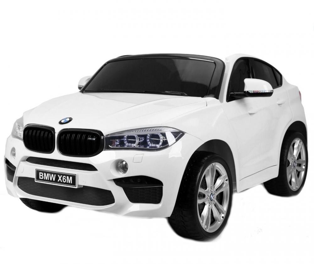 Masinuta electrica BMW X6 M XXL White cu doua locuri si telecomanda 2.4 Ghz