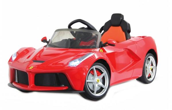 Masinuta electrica copii Ferrari Globo 6V cu telecomanda control parinti 2.4 Ghz cu 2 viteze