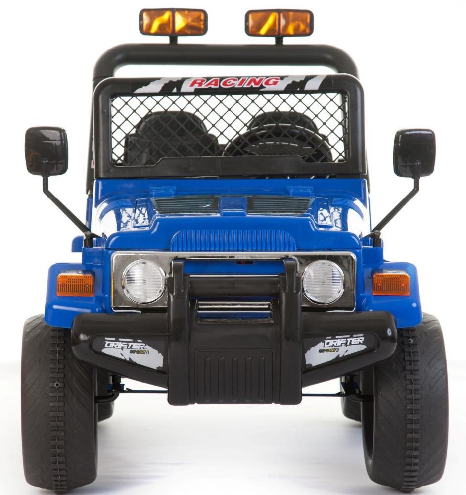 Masinuta electrica cu doua locuri si roti din plastic Drifter Jeep 4x4 Albastru - 7