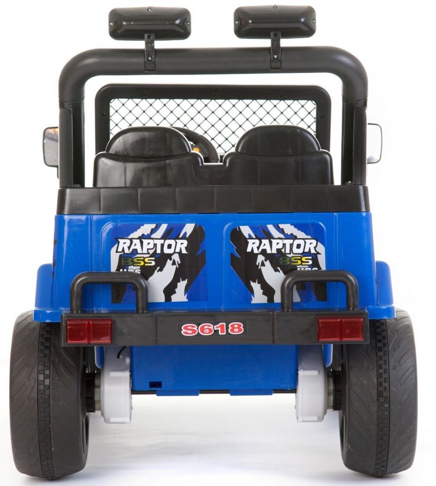 Masinuta electrica cu doua locuri si roti din plastic Drifter Jeep 4x4 Albastru - 8