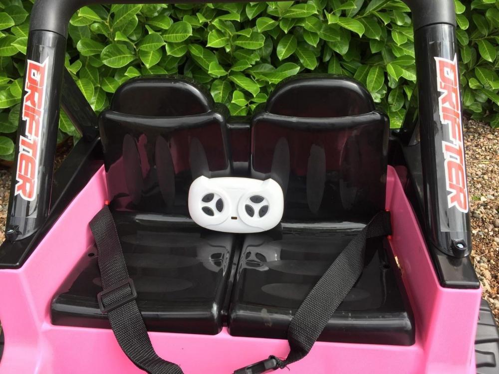 Masinuta electrica cu doua locuri si roti din plastic Drifter Jeep 4x4 Roz - 1