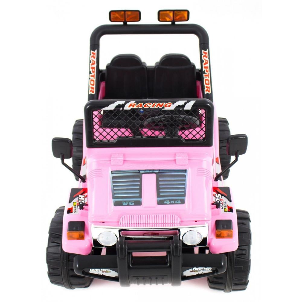 Masinuta electrica cu doua locuri si roti din plastic Drifter Jeep 4x4 Roz - 2
