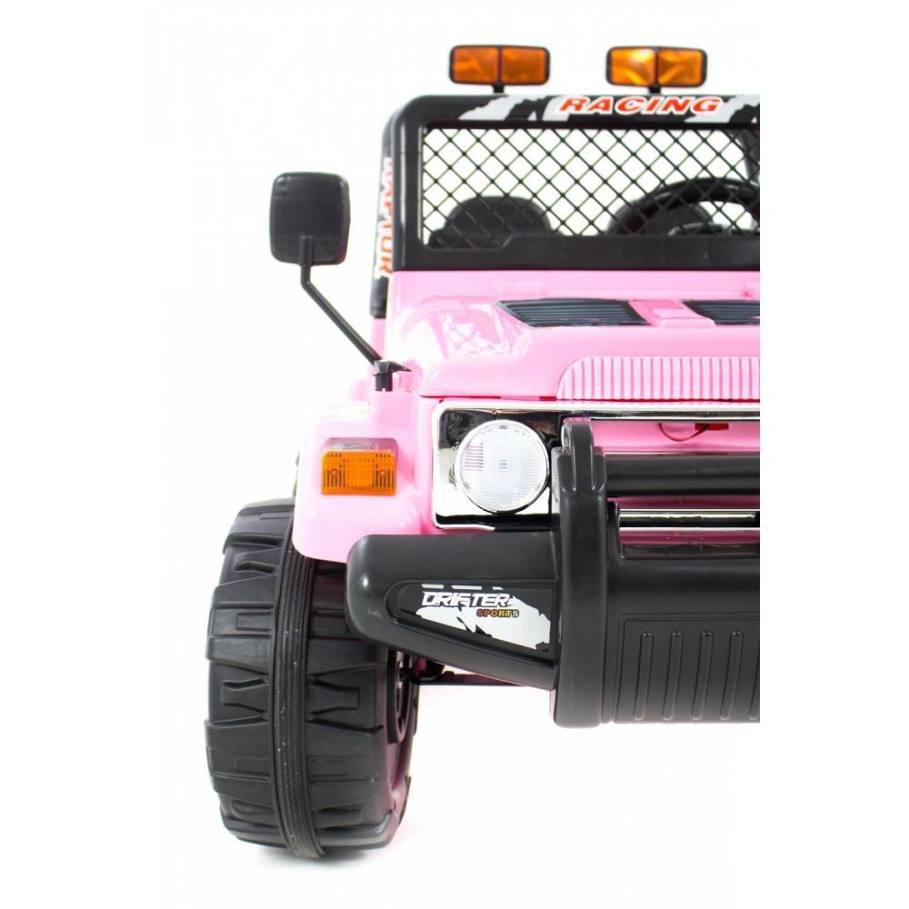 Masinuta electrica cu doua locuri si roti din plastic Drifter Jeep 4x4 Roz - 4