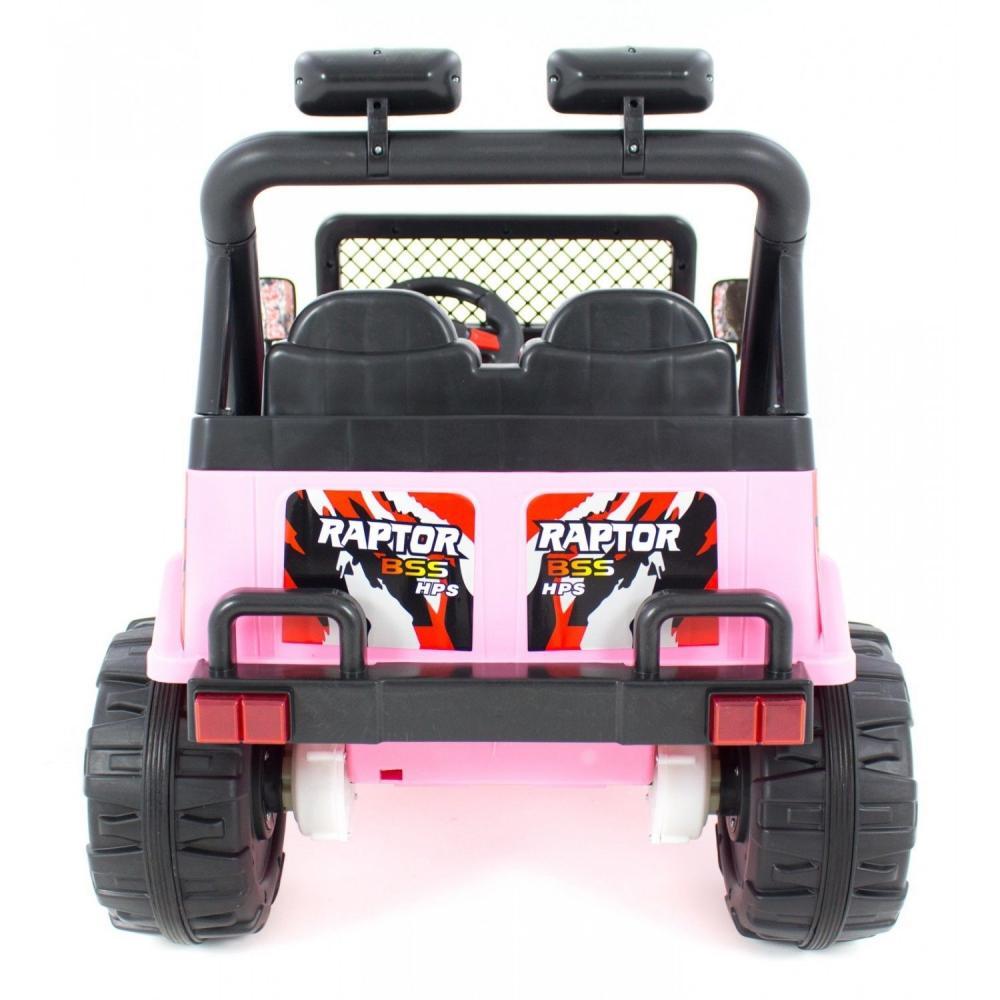 Masinuta electrica cu doua locuri si roti din plastic Drifter Jeep 4x4 Roz - 6