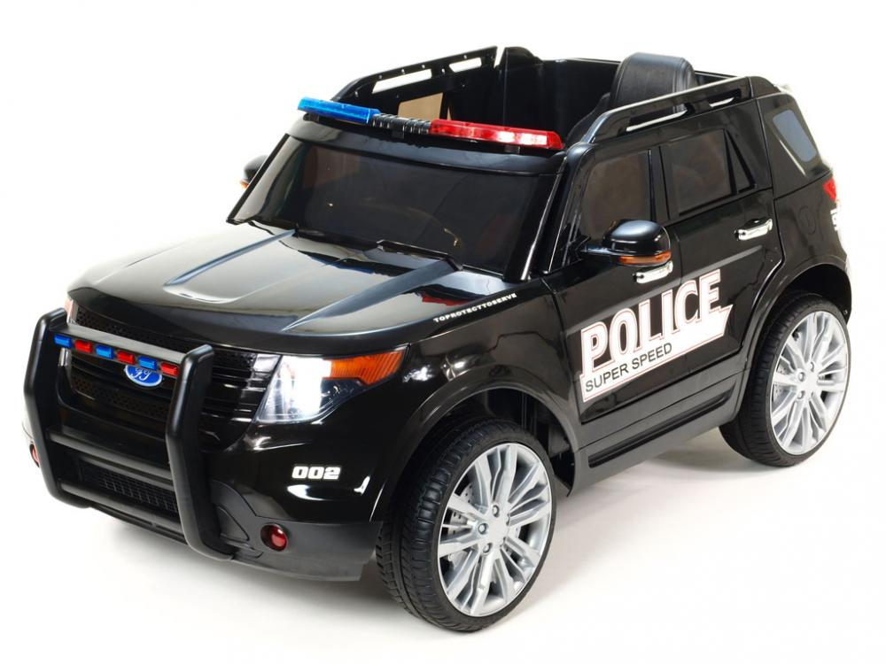 Masinuta Electrica Cu Telecomanda 2.4ghz Police Black