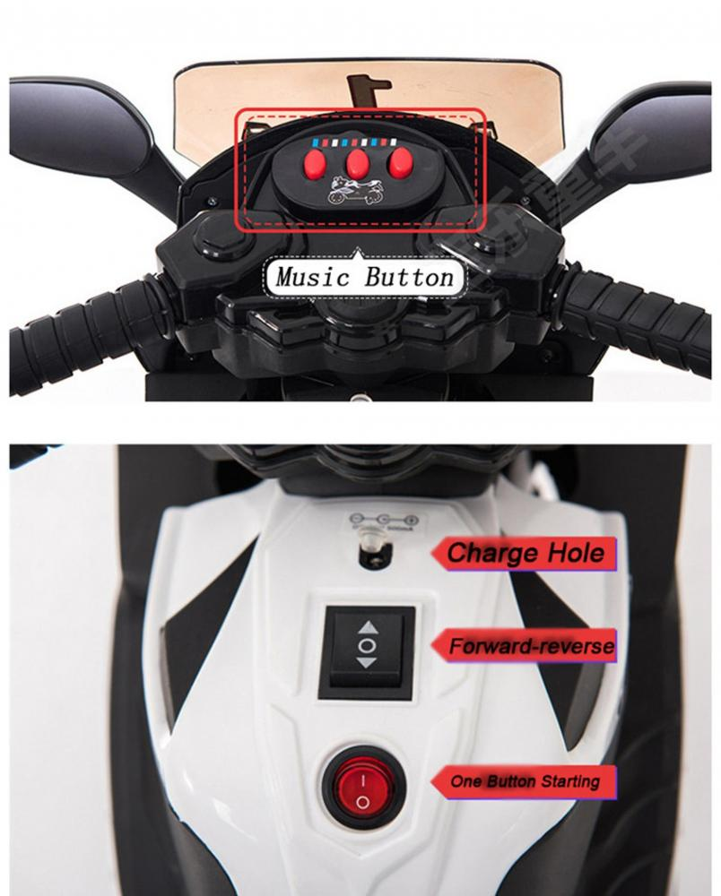 Motocicleta electrica Predator White - 8