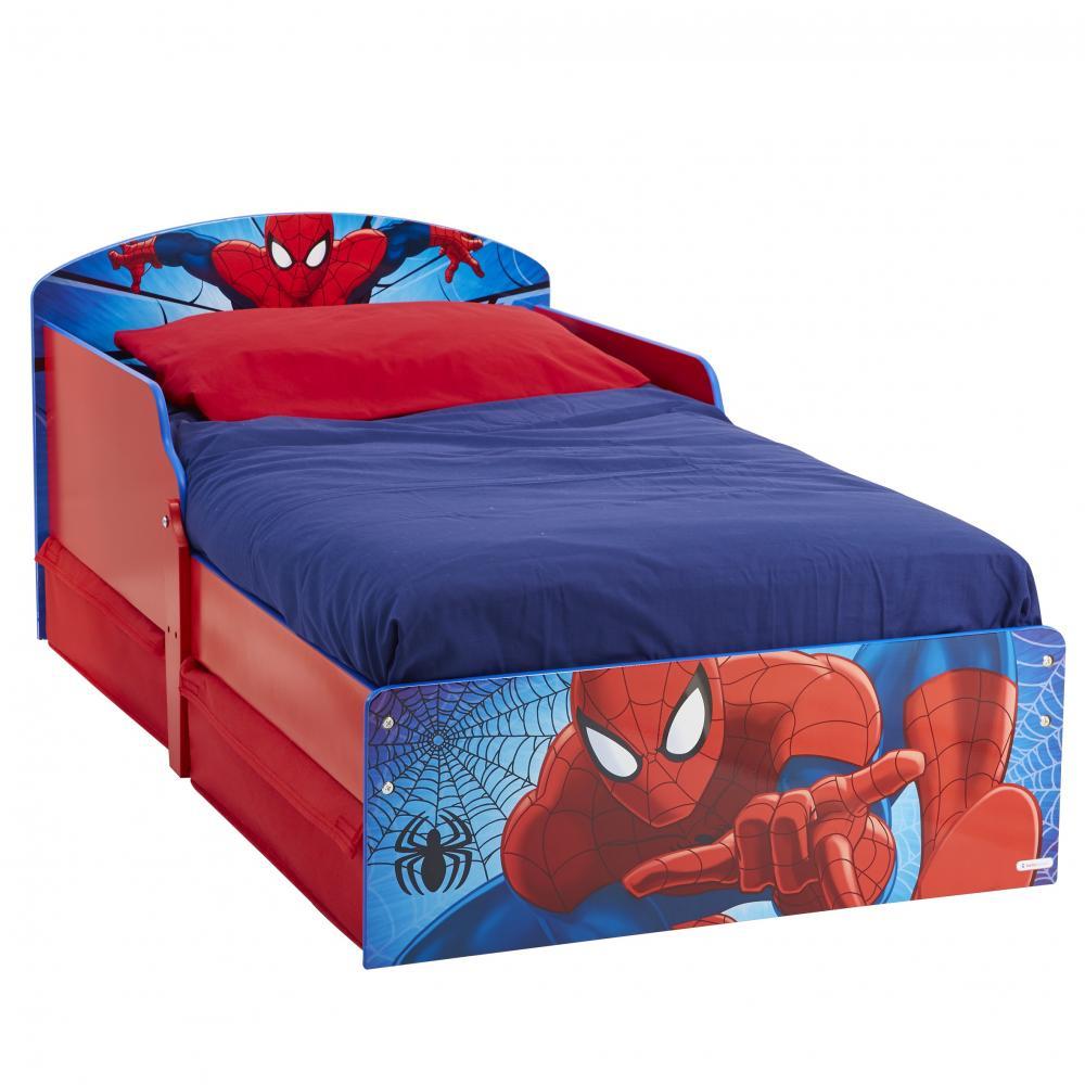 Pat Spiderman 140x70 cu spatiu depozitare