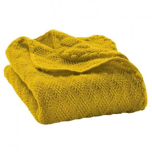 Paturica din lana merinos organica tricotata 100x80 cm Disana Curry