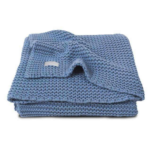 Paturica tricotata albastra Heavy Jollein 75 x 100 cm