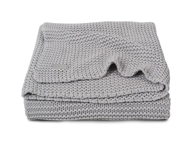 Paturica tricotata gri Heavy Jollein 75 x 100 cm