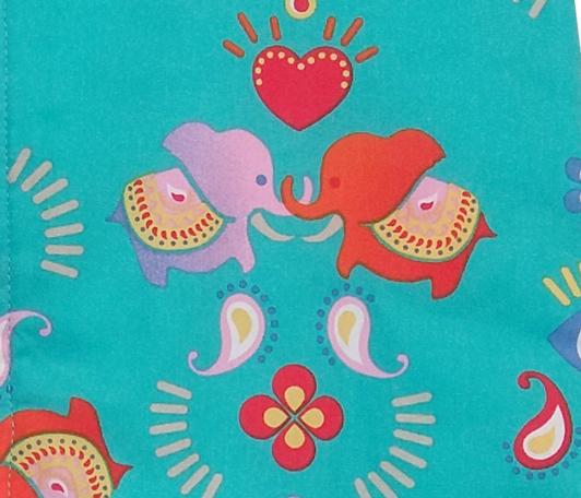 Sac de dormit 2.5 tog Jocul Elefantilor turcoaz 85 cm imagine