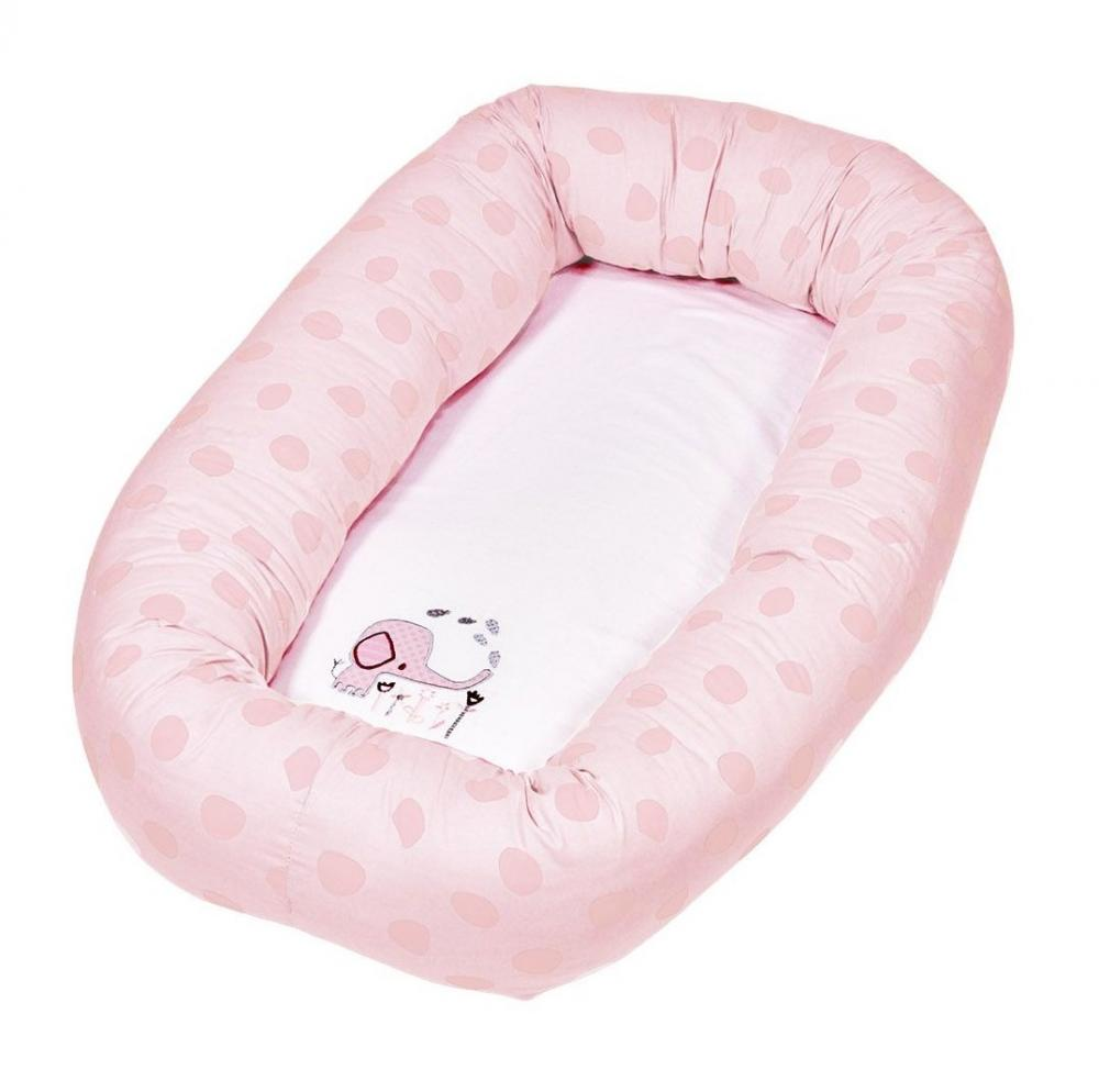 Salteluta cu protectie pentru bebelusi Baby Dan Elefantastic Roz