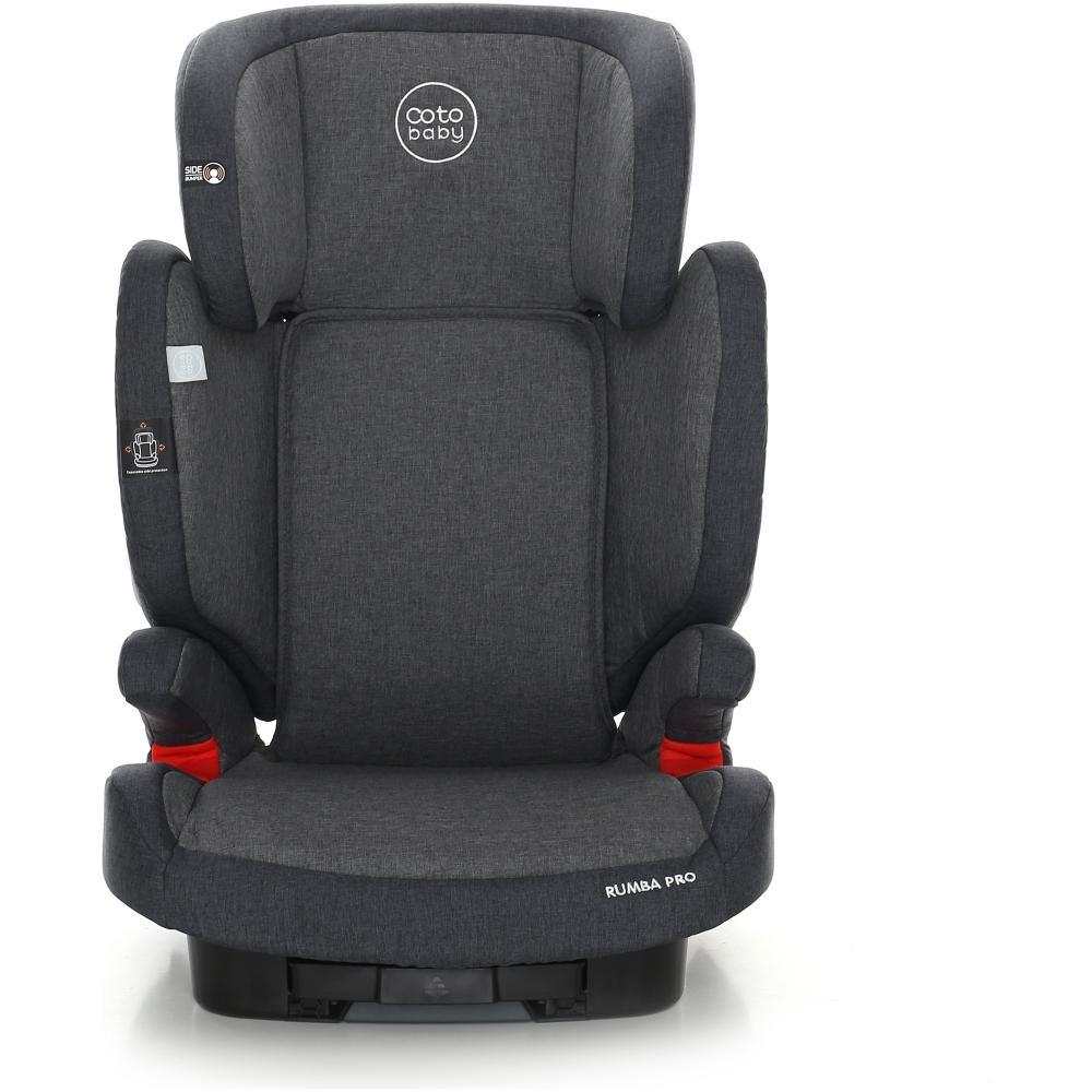 Scaun auto cu sistem Isofix Rumba Pro 15-36 kg Melange Dark Grey