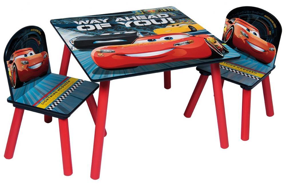 Set masuta si 2 scaunele Fulger Mcqueen