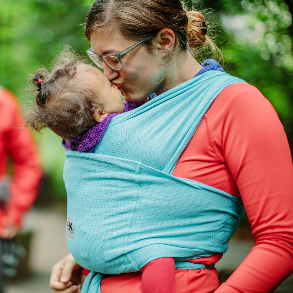 Sistem purtare Baby Ktan Baby Carrier Breeze Teal Marimea XS