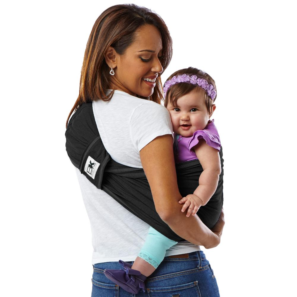 Sistem purtare Baby Ktan Baby Carrier Original Cotton Basic Black Marimea XS