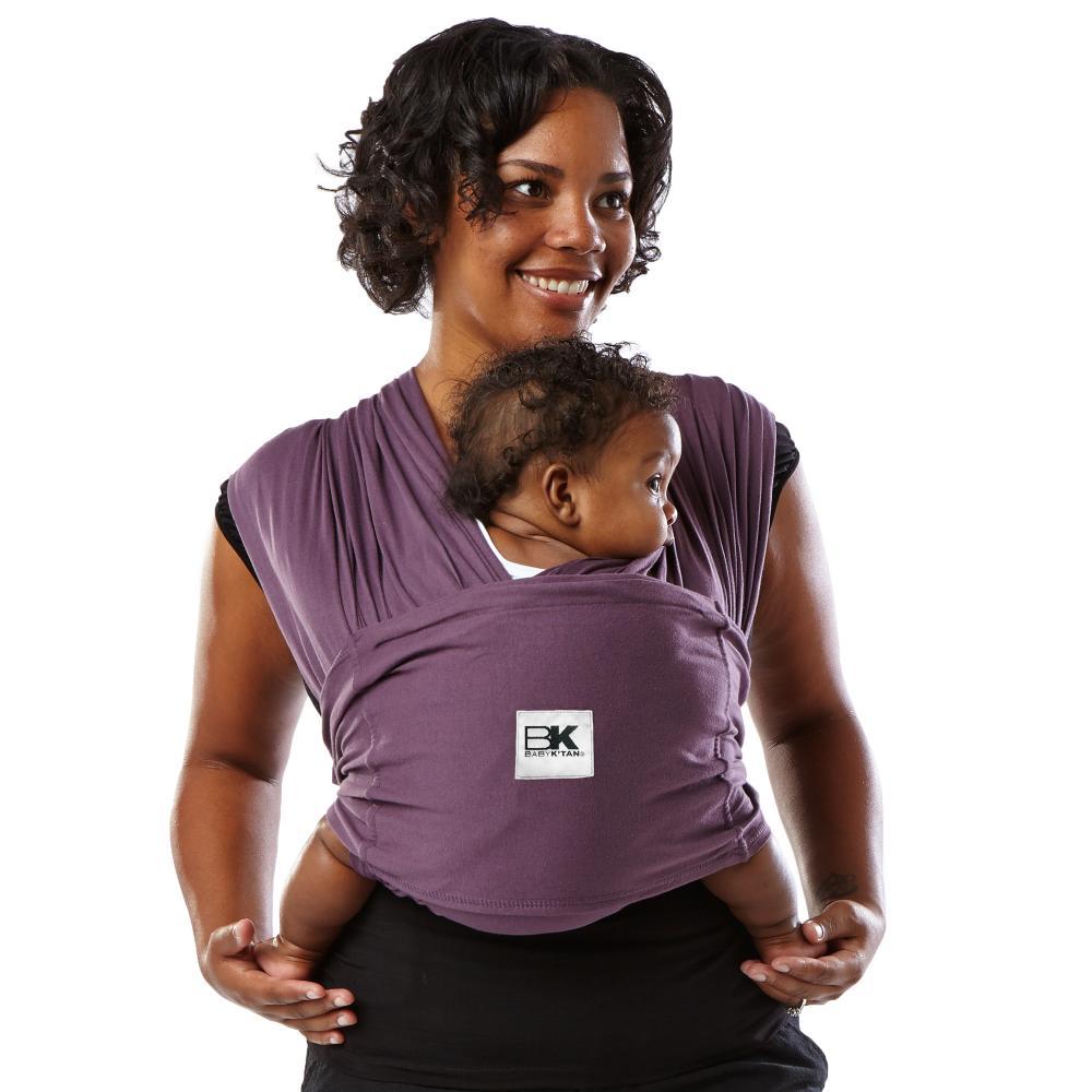 Sistem purtare Baby Ktan Baby Carrier Original Cotton Eggplant marimea L