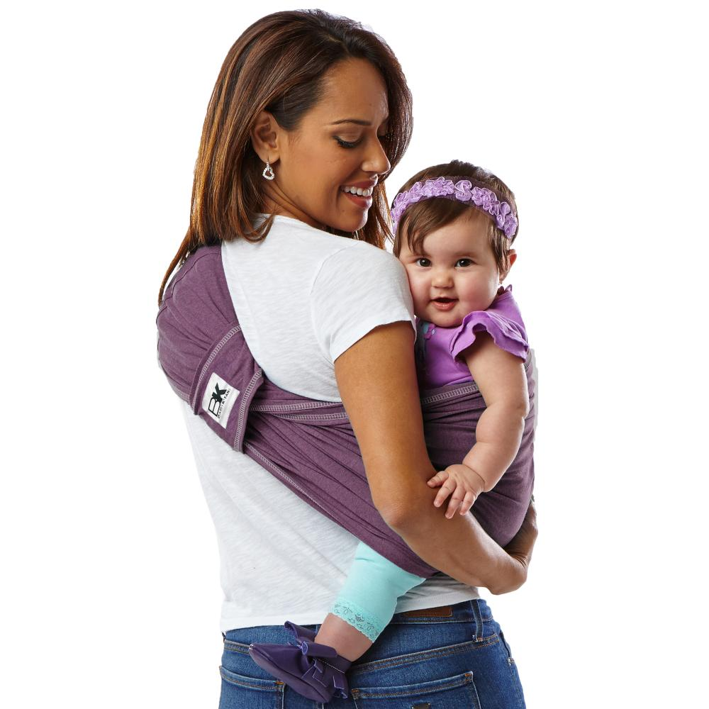 Sistem purtare Baby Ktan Baby Carrier Original Cotton Eggplant marimea XS