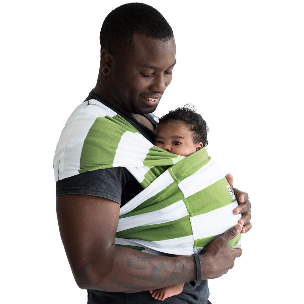 Sistem purtare Baby Ktan Baby Carrier Print Olive Stripe marimea L