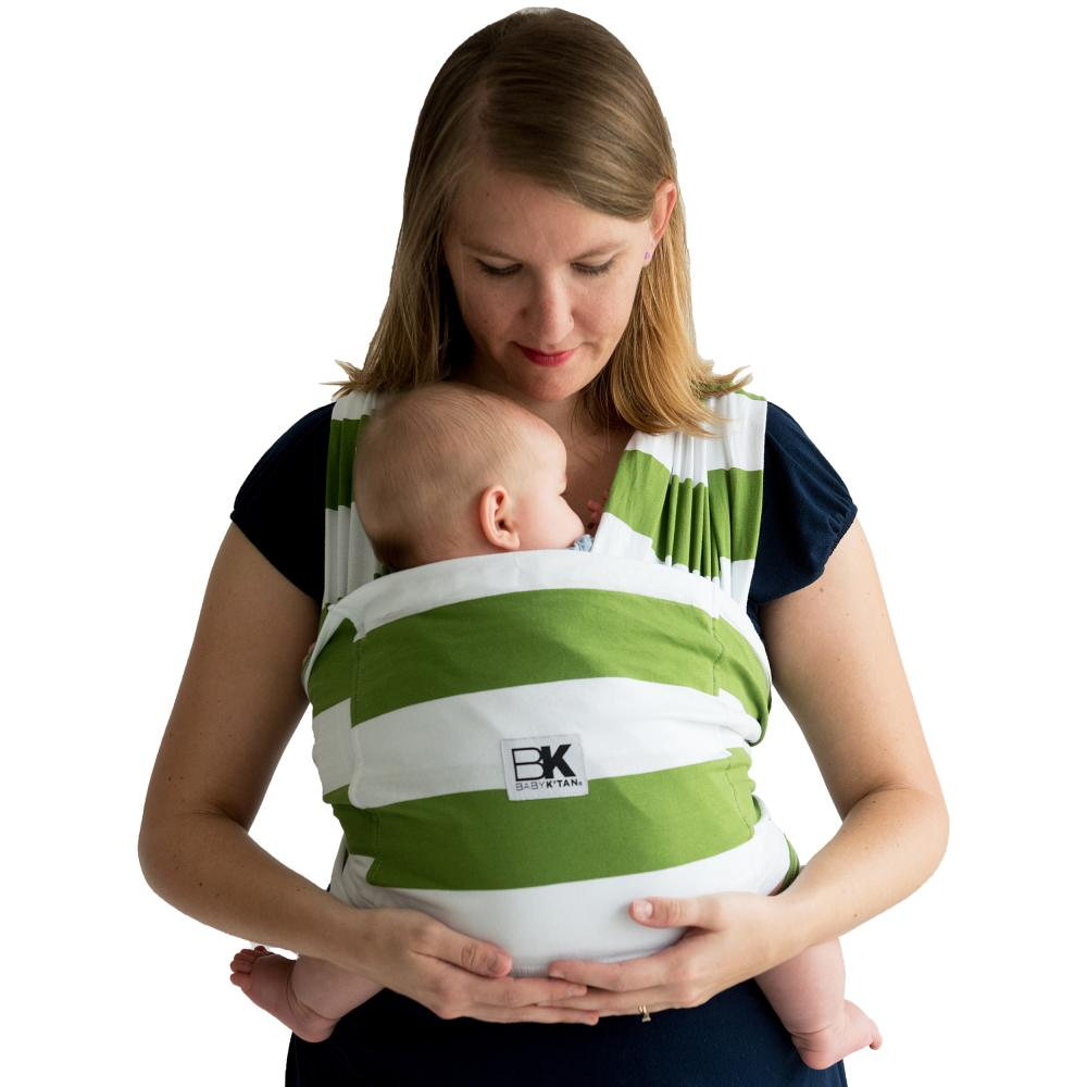 Sistem purtare Baby Ktan Baby Carrier Print Olive Stripe marimea S