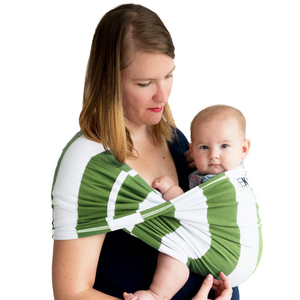 Sistem purtare Baby Ktan Baby Carrier Print Olive Stripe marimea XS