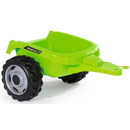 Tractor cu pedale si remorca Smoby Farmer Max verde - 1