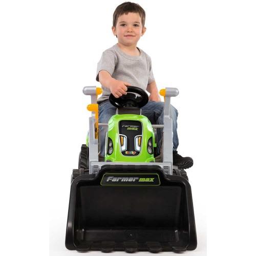 Tractor cu pedale si remorca Smoby Farmer Max verde - 2