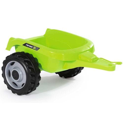 Tractor cu pedale si remorca Smoby Farmer XL alb negru - 3