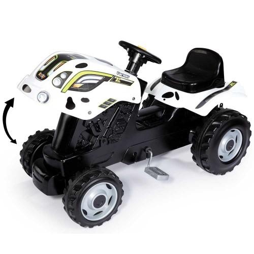Tractor cu pedale si remorca Smoby Farmer XL alb negru - 4