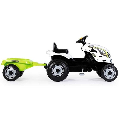 Tractor cu pedale si remorca Smoby Farmer XL alb negru - 5