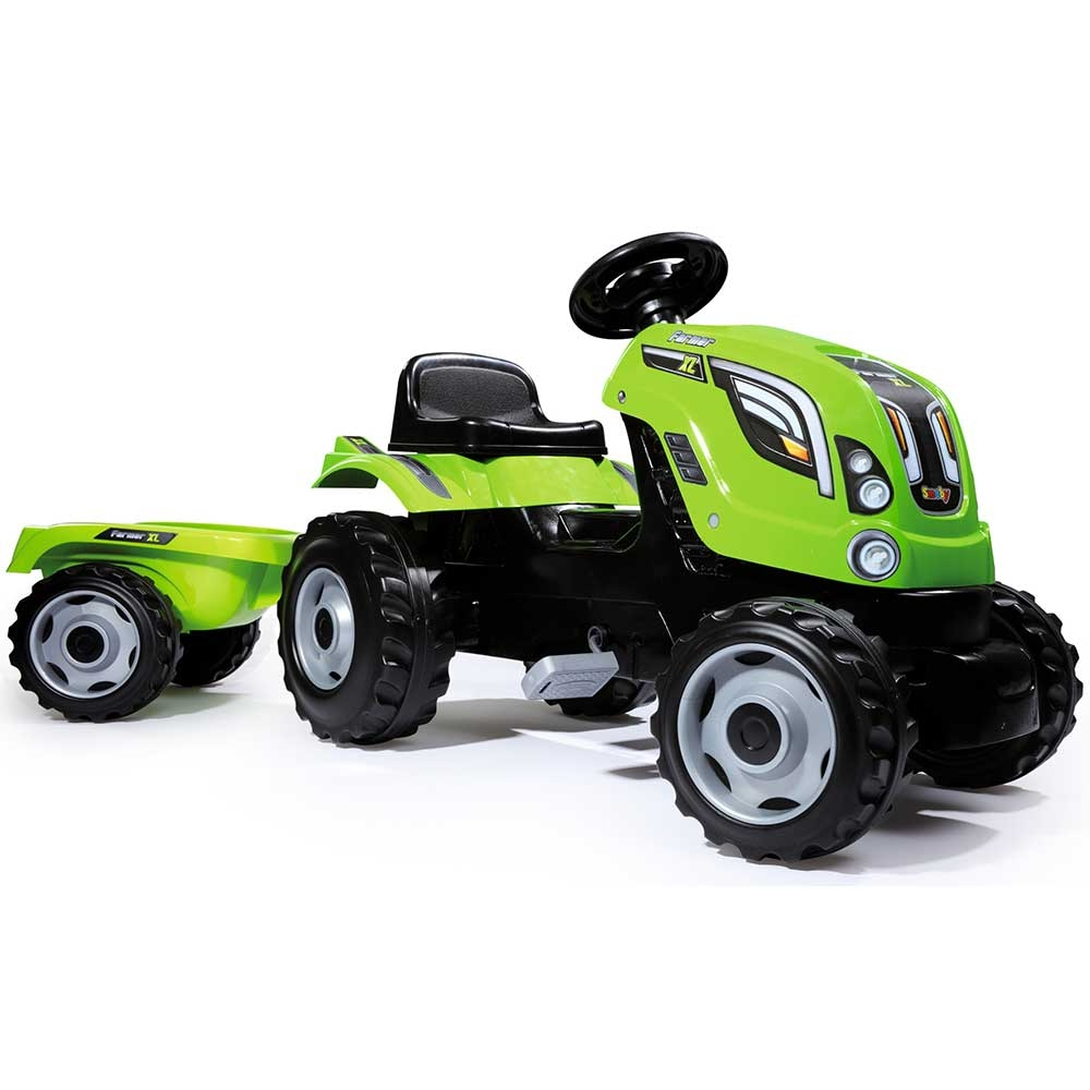Tractor cu pedale si remorca Smoby Farmer XL verde - 4