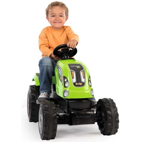 Tractor cu pedale si remorca Smoby Farmer XL verde - 1