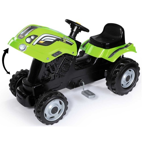 Tractor cu pedale si remorca Smoby Farmer XL verde - 2