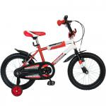 Bicicleta copii Bonanza 16 Bimbo G1601B cadru otel rosu/alb si roti ajutatoare