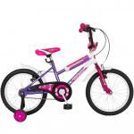 Bicicleta copii Bonanza 18 Bimba G1802B cadru otel fucsia/violet si roti ajutatoare